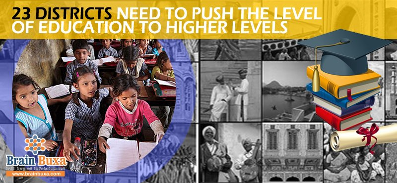 23 districts need to push the level of education to higher ...
