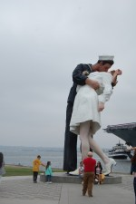 Kissing Statue in San Diego is One Attractive Stop Along the Seaport