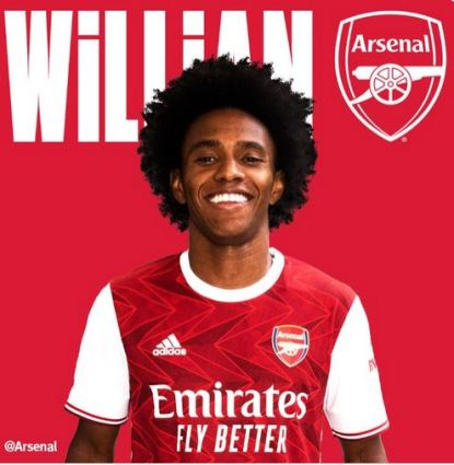 Willian Joins Arsenal From Chelsea On A Three Year Deal
