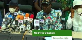 Edo State Elections: Gov Obaseki Gives Victory Speech (Video)