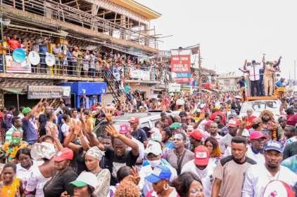 Edo State: Gov Obaseki, Supporters Party On Benin Streets
