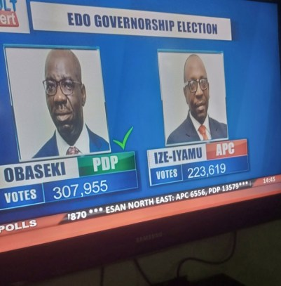2020 Edo Governorship Election: INEC Declares Obaseki Winner (See Official Results)
