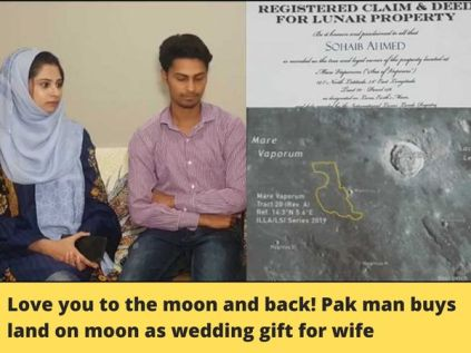 Man Buys Land On Moon As Wedding Gift For His Wife