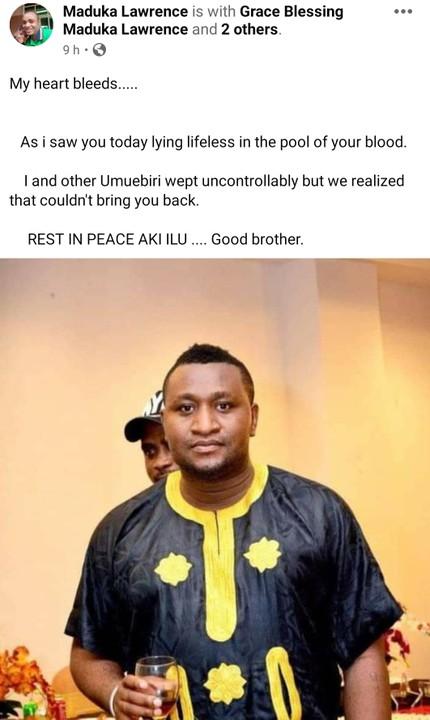 Photos Of A Malaysia-Based Nigerian Shot Dead By Gunmen In Aba