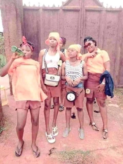 See The Unusual Way Female Secondary Students Celebrated WAEC Final Paper In Cross River
