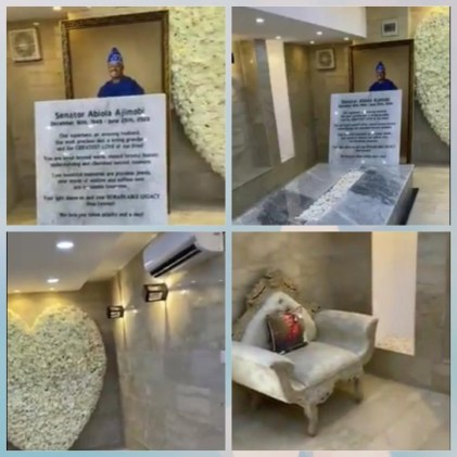 Senator Abiola Ajimobi's Air-Conditioned Grave Uncovered
