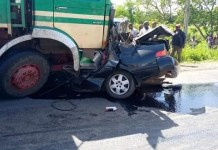 Truck Crushes University Lecturer, His Wife And Three Children To Death
