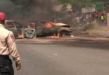 9 Passengers Escape Death As Vehicles Catch Fire In Anambra