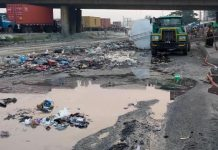 Petrol Tanker Falls, Spills Content In Lagos On Christmas Day