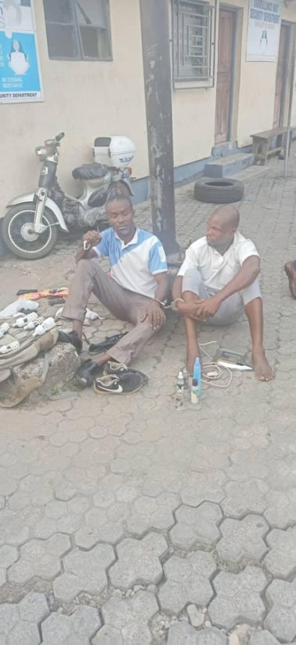 2 Men Hired For Hostel Renovation Arrested After Stealing Students' Belongings In UNICAL