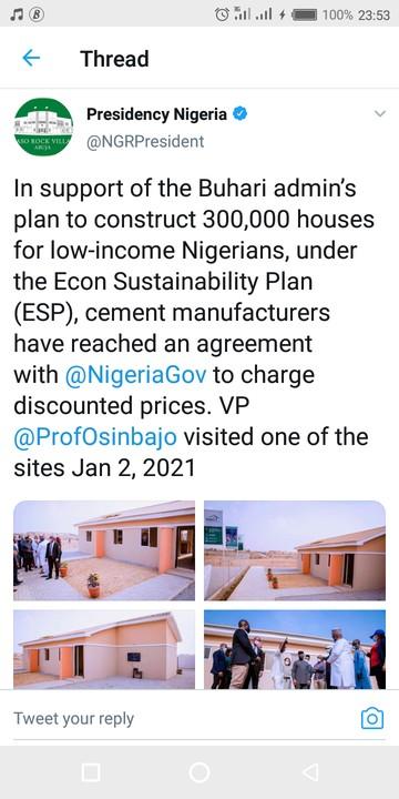 Federal Govt Commences 300,000 Social Housing Scheme