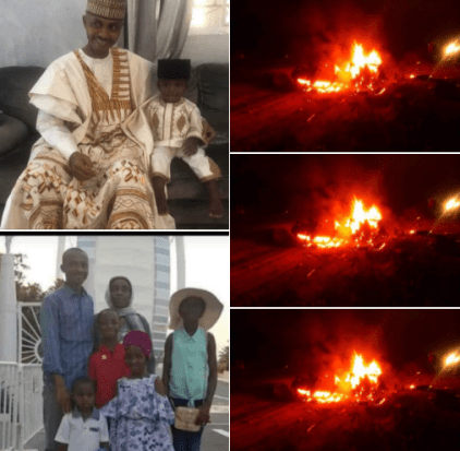 Man, His Wife And Four Children Burnt To Death In Fatal Accident Along Nasarawa-Abuja Expressway