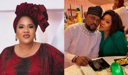 Nollywood Actress Toyin Abraham Celebrates Husband On His birthday