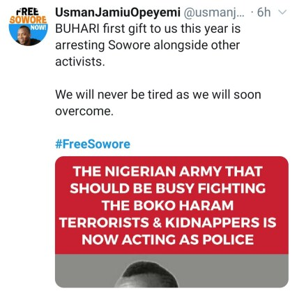 Omoyele Sowore And Other Activists Arrested In Abuja, As #FreeSowore Trends