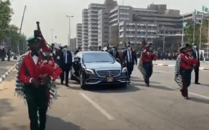 President Buhari Arrives For Armed Forces Remembrance Day