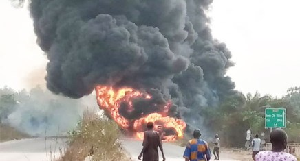 Driver Burnt To Death In Diesel Tanker Explosion In Ogun