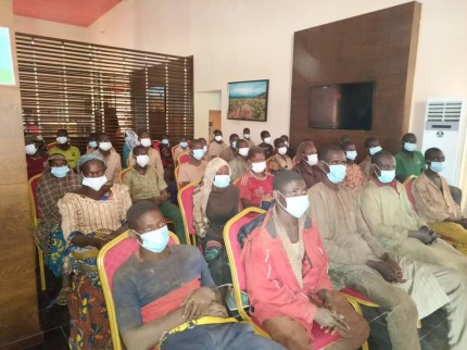 Freed Kagara Students And Teachers Arrive Niger State Govt House