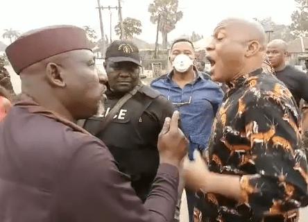 Gov Hope Uzodinma's Aide Tackles Sen. Rochas Okorocha At The Police Station