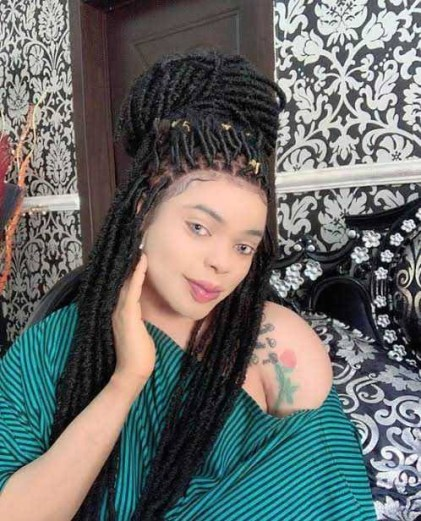 Loyal Fan Tattoos Bobrisky's Full Name On Her Thigh