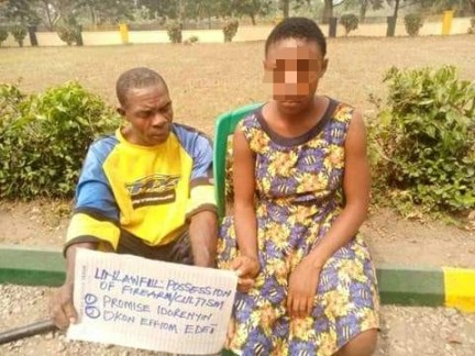See Photos As Police Parade Cross River Schoolgirl Caught With Gun And Her Manfriend