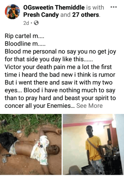 See Photos As Young Man Is Shot Dead In Anambra