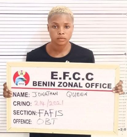 EFCC Arrest Suspected Female Internet Fraudster In Delta State