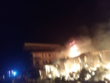 Fire Outbreak At Onitsha Plastic Market