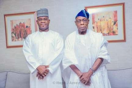 Obasanjo Urges Yahaya Bello To Sustain Fight Against Criminality