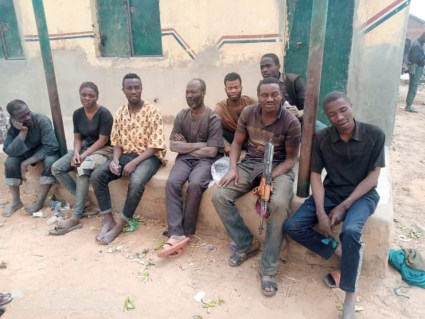 See Photos As 8 Kidnap Victims Are Rescued In Kaduna After One Month In Captivity