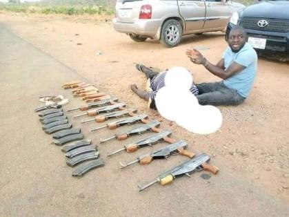 See Photos As Notorious Gunrunners Who Supply Firearms To Bandits In Kaduna, Zamfara, Katsina, Niger States Are Arrested