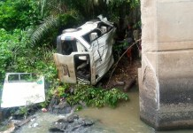 Newly Wed Man, 4 Others Die As 18-Seater Bus Plunges Into River In Ondo State
