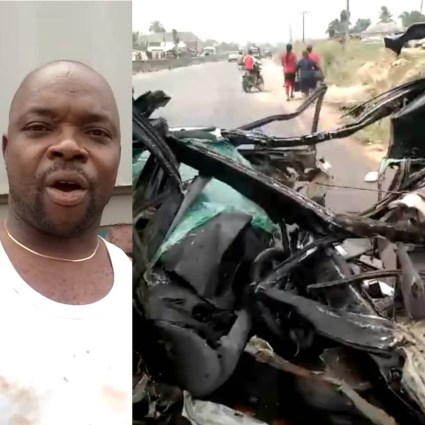 Nigerian Man Thank God For Surviving Ghastly Accident Along Okija Road In Anambra