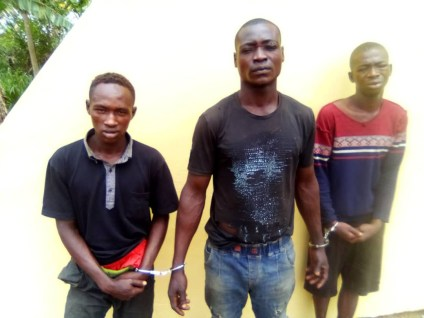 See Photo As Police Arrests 3 Suspected Members Of A Kidnap Gang Terrorizing Lagos Ibadan Expressway
