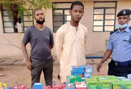 See Photos As Police Arrest Ex-Convict Who Stole 273 Phones Worth N15m In Katsina State