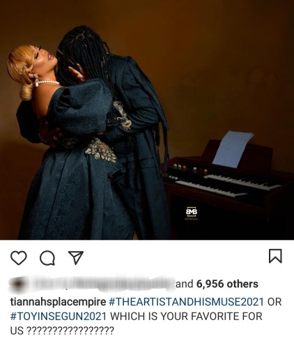 Toyin Lawani Releases Pre-Wedding Photos With Her Man, Segun Adebayo