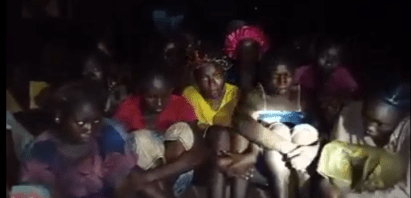 Watch Video As Bandits Release Footage Of Pregnant Student And Others Abducted From Kaduna School