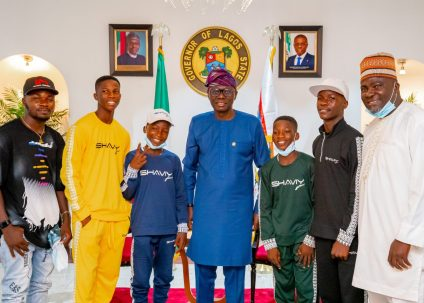 Governor Sanwo-Olu Hosts Ikorodu Bois