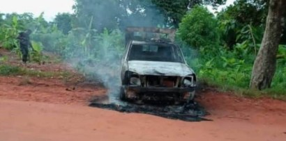 How Gunmen Killed Policeman At Checkpoint, Set Van Ablaze In Delta