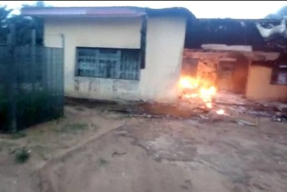 INEC Office Set Ablaze By Unknown Hoodlums In Akwa Ibom