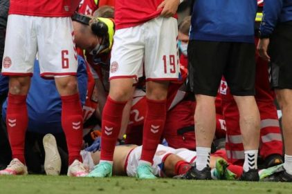 Denmark's Christian Eriksen Collapses On Pitch Vs Finland, Match Suspended