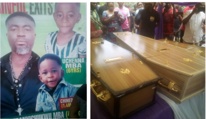 Nigerian Man And His 2 Children Who Died In Fatal Car Crash In South Africa Laid To Rest