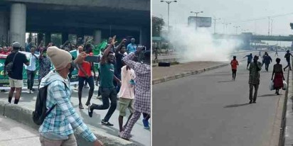 Police Fire Teargas At June 12 Protesters In Lagos