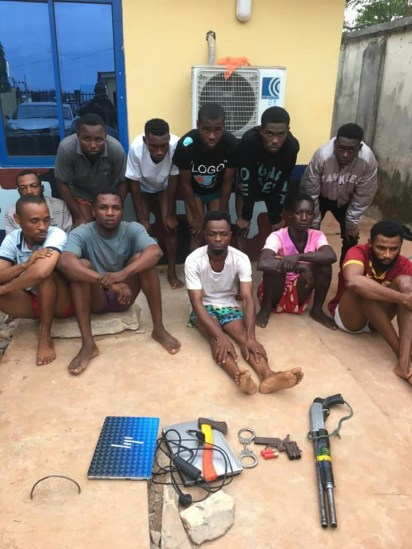 Police Foil Robbery Attack, Arrest 11 Suspected Cultists In Delta