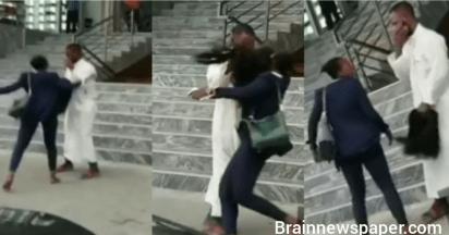 Lady Beats Up Skit-Maker