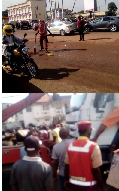 See Photos As Trailer Crushes 3 To Death In Ibadan