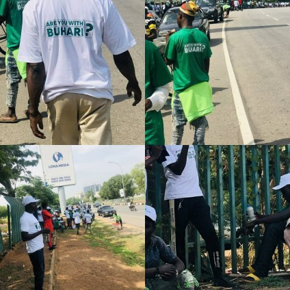 See Photos Of #IstandwithBuhari Protesters In Abuja