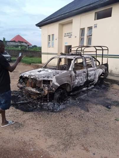 Unknown Gunmen Burn Police Station In Anambra State