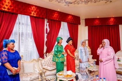 Aisha Buhari Hosts Gambian First Lady