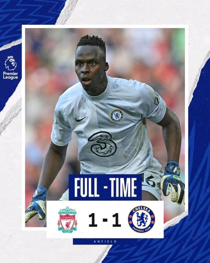 10-Man Chelsea Got A Point From Anfield