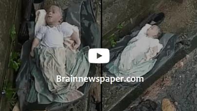 Newborn Baby Abandon In The Rain By Mother In Calabar